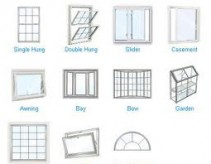 window styles - picture of eleven different window styles