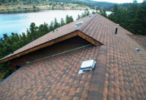 static vents - Picture of a roof with a static roof vent system