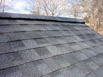 ridge vent - Picture of roof with a ridge vent system