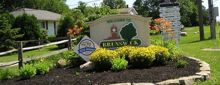 Brunswick Ohio - Picture of welcome sign for the city of Brunswick, Ohio